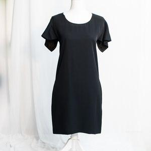 Chloe Silk Cutout Open Back Dress Black